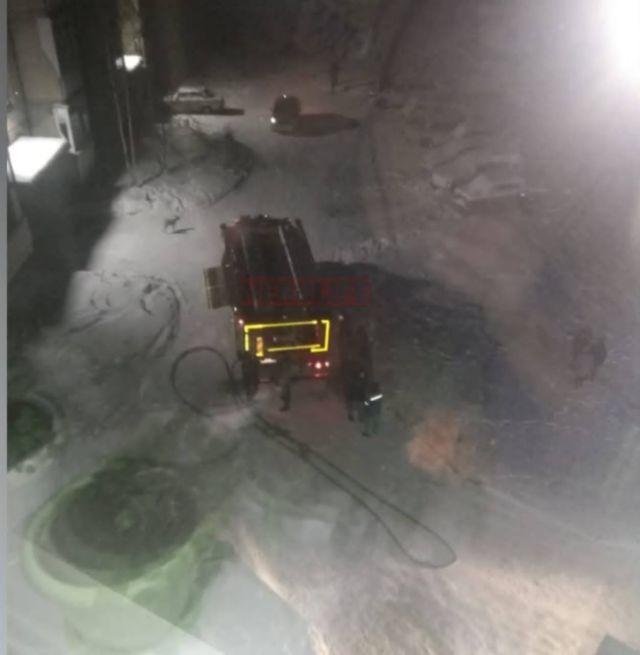 Пожар в пятиэтажном доме Нерюнгри